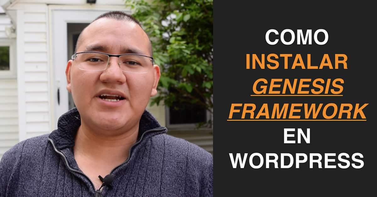 Como Instalar Genesis Framework? Paso a paso