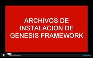 archivos de instalacion genesis framework