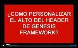 como personalizar el alto del header o cabecera en genesis framework