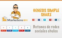 Genesis Simple Share – botones de redes sociales Chulos