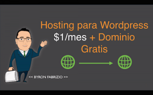 Hosting para WordPress $1/mes + Dominio Gratis Godaddy