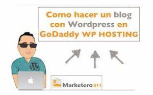 Cómo hacer un blog con WordPress en GoDaddy WP Hosting