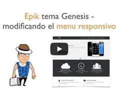 Epik tema genesis - como modificar el menu responsive